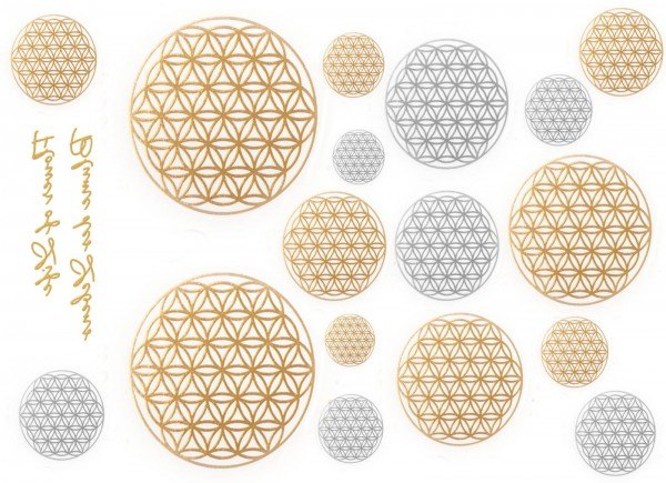 Metall Tattoos Blume des Lebens