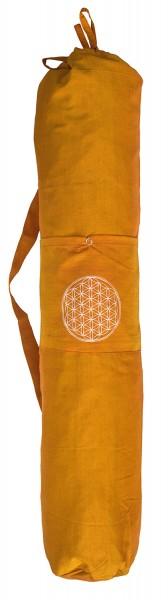 "Yogatasche ""Blume des Lebens"" Baumwolle saffran 20x80cm"
