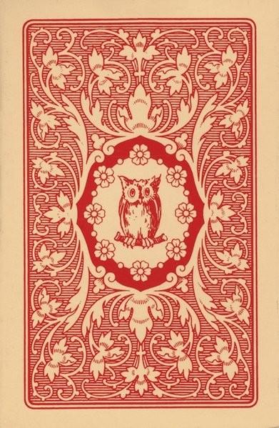 Lenormand Orakelkarten - rote Eule