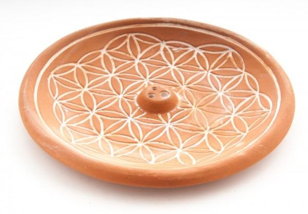 Halter Keramik Blume des Lebens natur VE=2 Stück