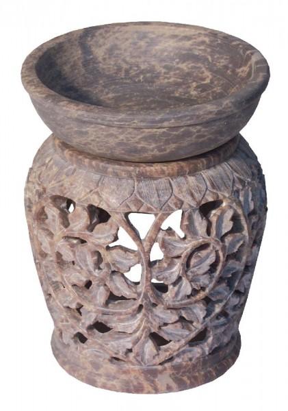 """Aromalampe """"Blume"""" Speckstein 9x12cm"""