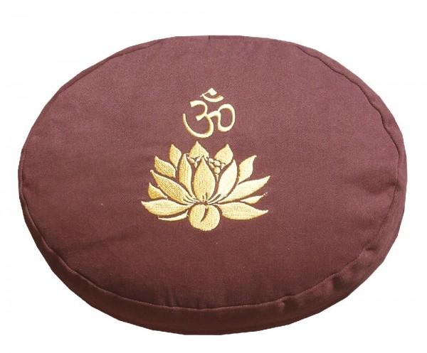 """Meditationskissen mit Inlet """"Lotus Om"""" Baumwolle(80%), Polyester(20%) braun"""
